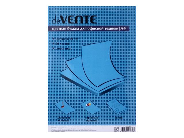 Бумага А4  80 г/м2  50 л. DeVente интенсив синий 2072420