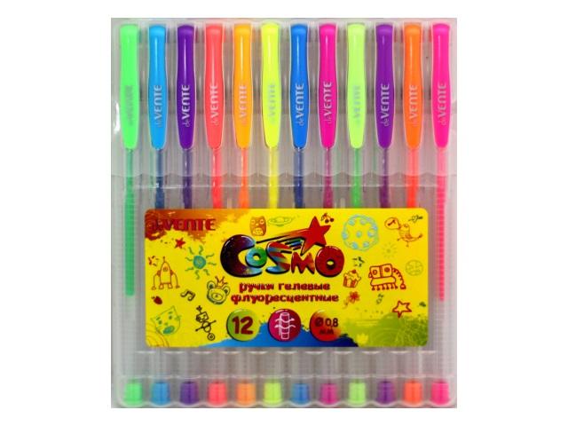 Ручка гелевая детская набор 12цв DeVente Cosmo 0.8мм неон 5051420