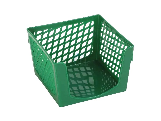 Бокс для бумаги 9*9*7 см DeVente Simple пластик сетка зеленый 4105504