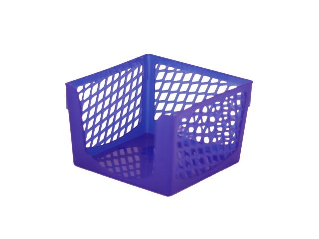 Бокс для бумаги 9*9*7 см DeVente Simple пластик сетка синий 4105501