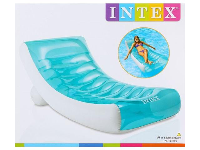 Матрац-кресло 99*188 см прозрачный в коробке, Intex 58856