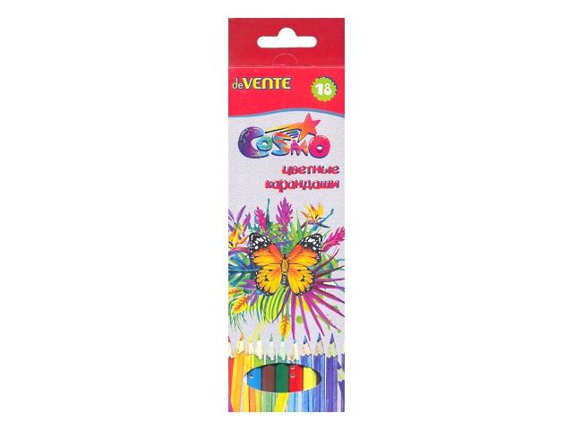 Карандаши цветные 18цв DeVente Cosmo шестигранные 5023303