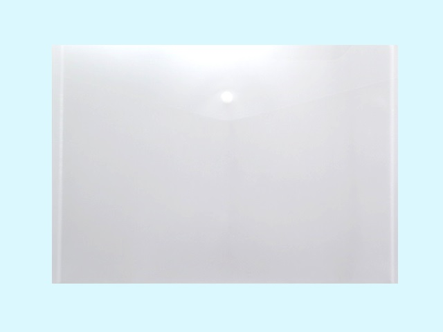 Папка конверт на кнопке А4 белая прозрачная 180мкм DeVente 3071405