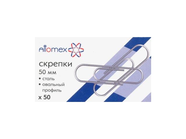 Скрепки 50мм  50шт стальные Attomex 4135502