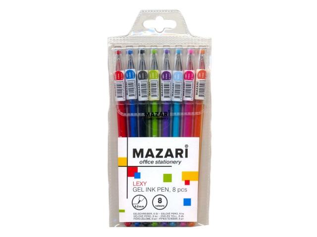Ручка гелевая набор  8цв Mazari Lexy 0.5м М-5507-8
