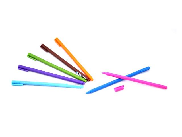 Ручка гелевая Mazari Chic цветной корпус синяя 0.38мм М-5528