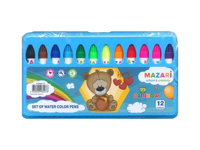 Фломастеры 12цв Mazari Rainbow с печатью М-5059-12