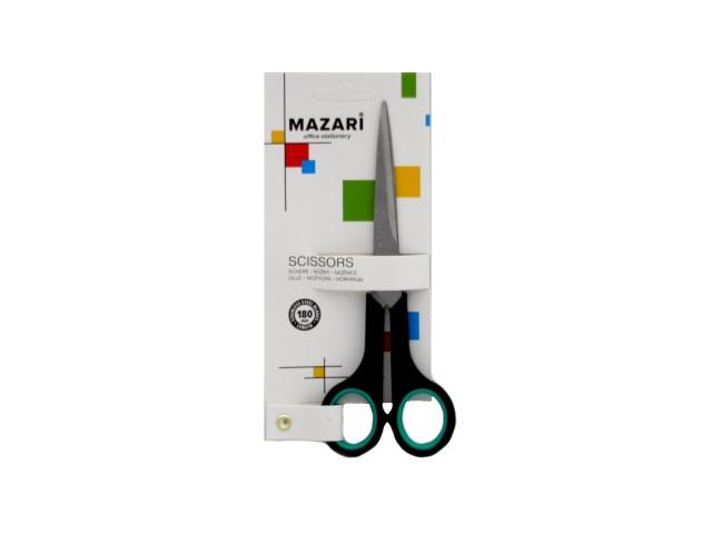 Ножницы 18 см прорезиненные ручки Mazari М-5602