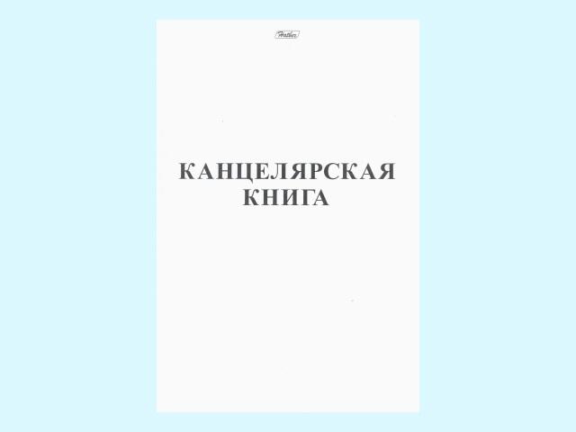 Тетрадь А4  48л Hatber Канцелярская книга белая 48Т4B3_03963