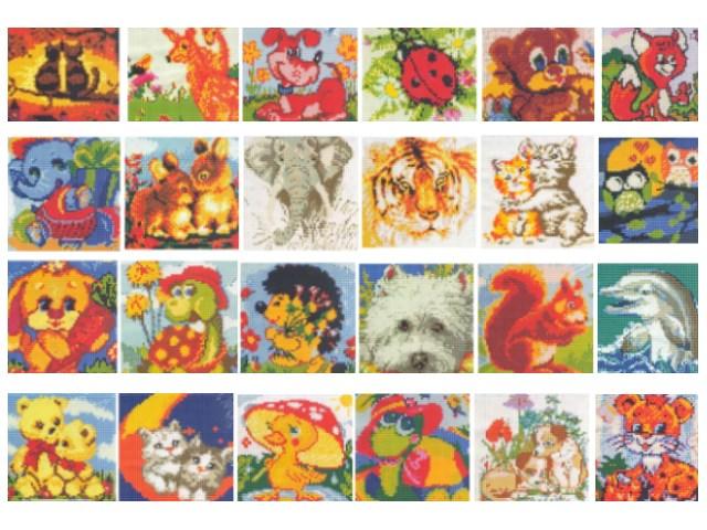 Алмазная мозаика 20*20см Забавные зверята Mazari М-6422