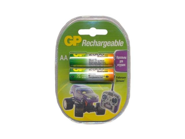 Батарейка аккумуляторная, в наборе 2 шт. R6 2500 mAh, Ni-Mh, GP