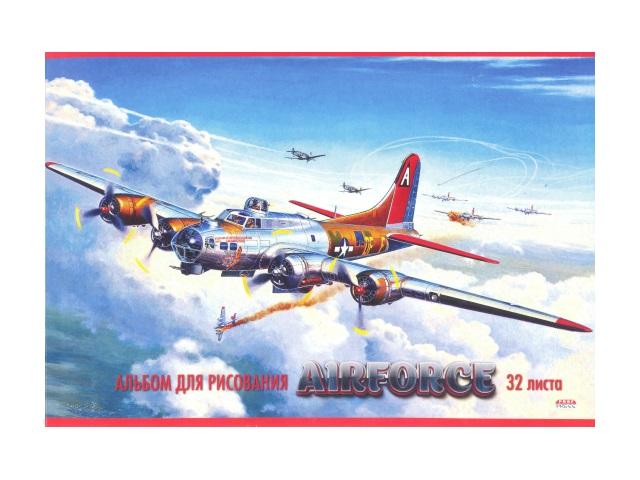 Альбом 32л А4 клееный Бой в облаках 100 г/м2 Prof Press 32-8724
