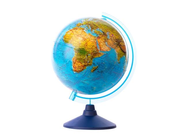 Глобус физический D 210 мм рельефный Ке022100183
