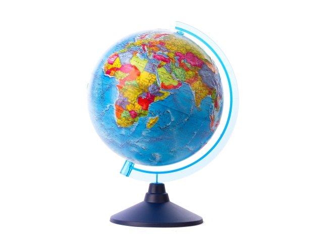 Глобус политический D 210 мм рельефный Ке022100201