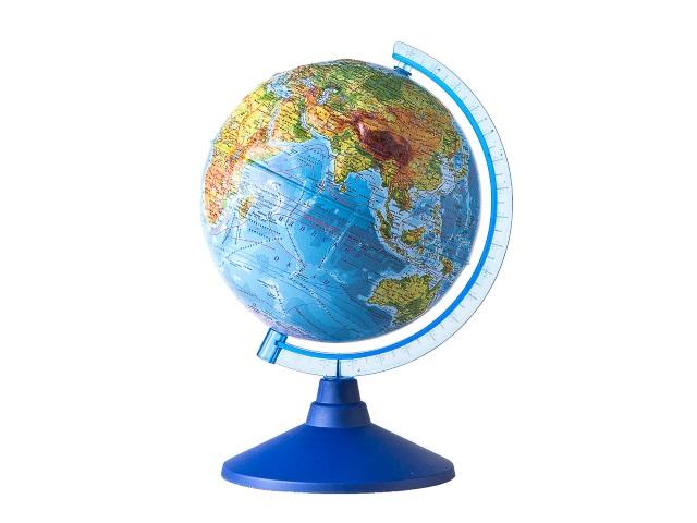 Глобус физический D 250 мм рельефный Ке022500193