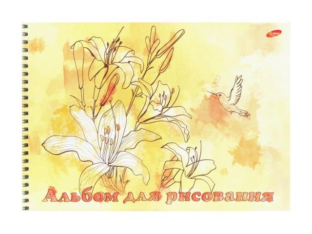 Альбом 40л А4 спираль Цветы 100 г/м2 Академия Групп ЕАС-8569-2