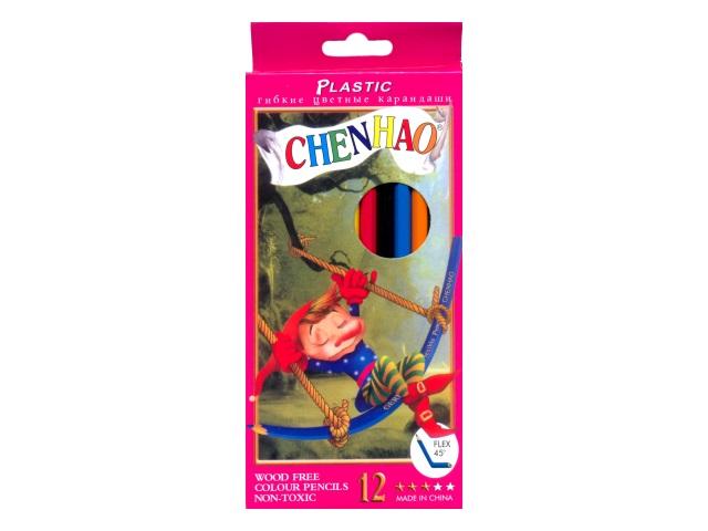 Карандаши цветные 12цв Chenhao шестигранные 158-12