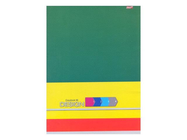 Книга канцелярская А4 96 листов, мягкая обложка, Яркий дизайн, Profit 96-0229