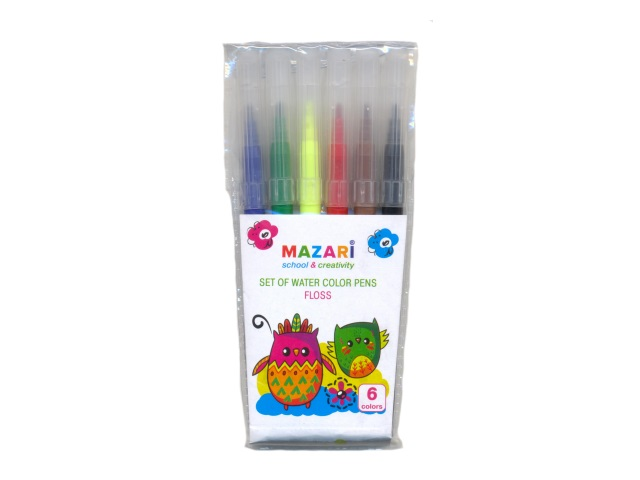 Фломастеры  6цв Mazari Floss М-5051-6
