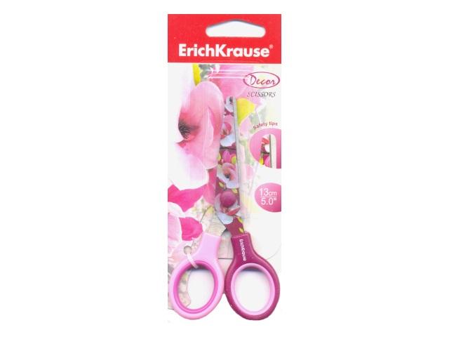 Ножницы детские 13 см Erich Krause Магнолия пластиковые ручки EK-14598