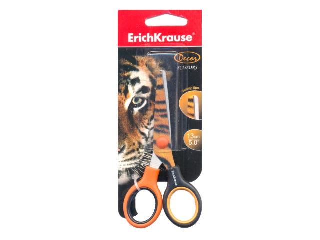 Ножницы детские 13 см Тигр пластиковые ручки EK-14599