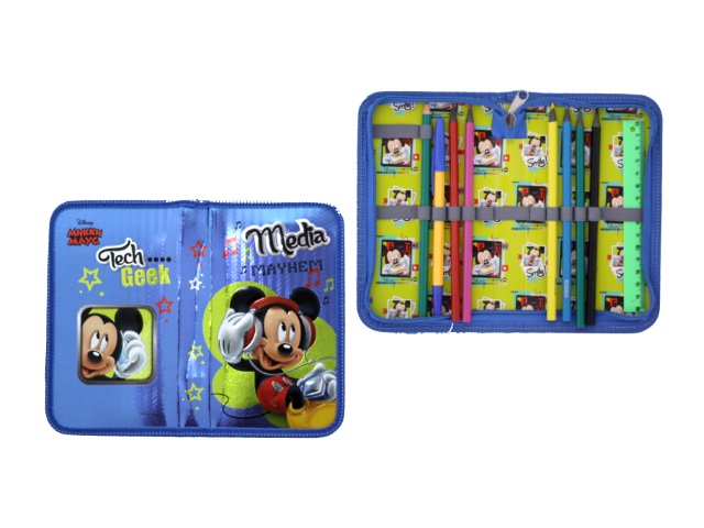 Пенал с наполнением  9 предметов Disney Микки Маус Limpopo 42505106