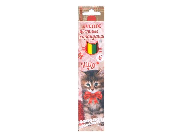 Карандаши цветные  6цв DeVente Kitty шестигранные 5021703