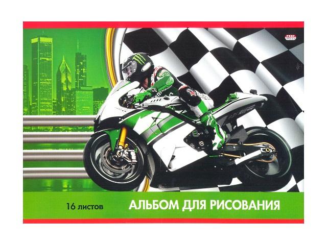 Альбом 16л А4 на скобах Моторалли 100 г/м2 Prof Press 16-2668