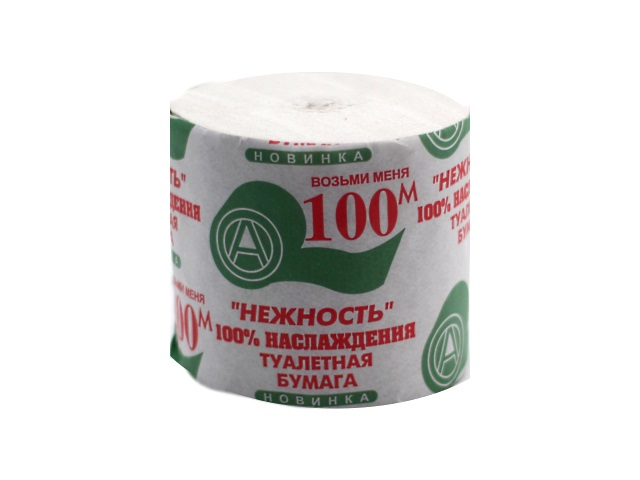 Бумага туалетная 100м Нежность