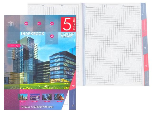 Тетрадь А5 5 разделов м/обложка 128л Современная архитектура С0274-24