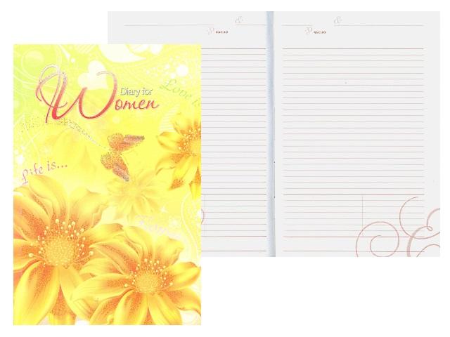 Ежедневник А5 тв/обложка 152л Желтые цветы Plano С0319-69