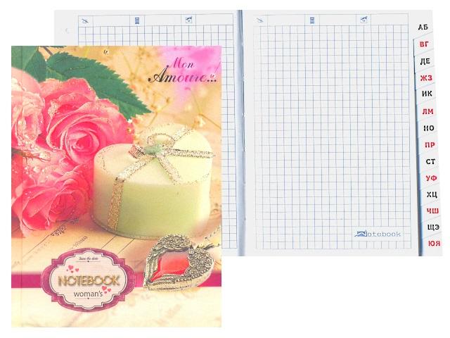 Алфавитник А6 твердая обложка Свеча и роза, 64 листа, Plano С0320-61