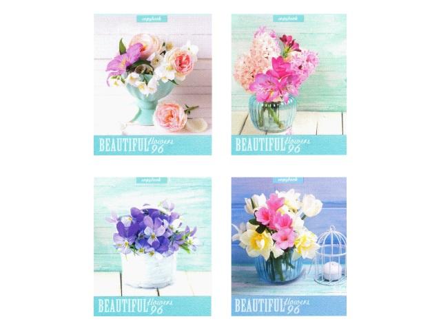 Тетрадь 96л линия Прекрасные цветы-2 Profit 96-2984