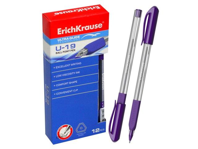 Ручка шариковая Erich Krause U-19 фиолетовая 0.6мм трехгранная 33525