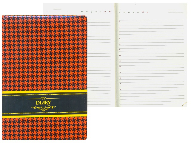 Ежедневник недатированный А5 кожзам 160 листов оранжевый, DeVente 2034746