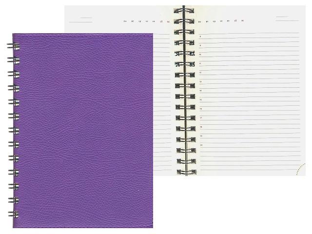 Ежедневник В6 кожзам м/обложка на спирали 160л фиолетовый DeVente 2035703