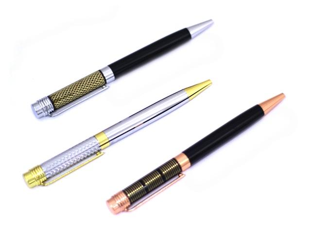 Ручка шариковая поворотная Basir металл синяя 0.7мм цветной корпус МС-4023