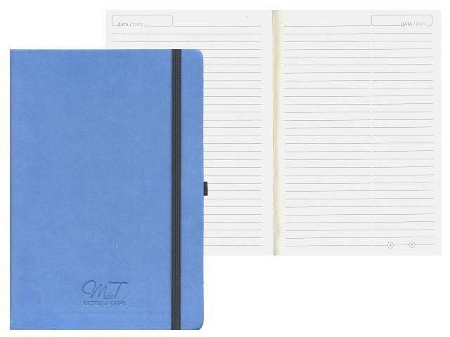 Ежедневник А5 кожзам 144л Soul синий на резинке 83186603