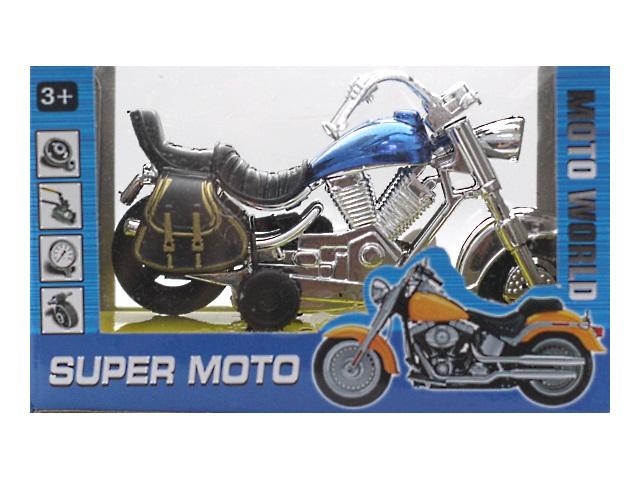 Мотоцикл пластиковый Super Moto 12 см в коробке, арт. 888