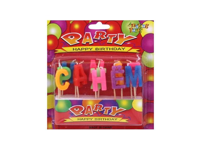 Свечи для торта Буквы С Днём Рождения на блистере