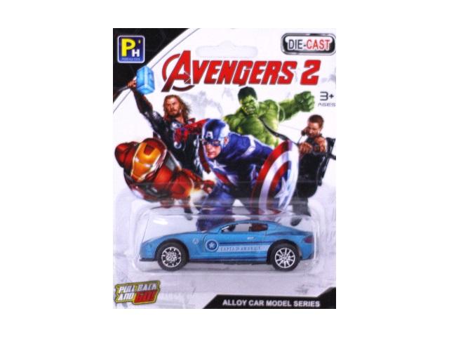 Машина инерционная металлическая Avengers-2 на блистере, 8 см, Die-Cast 1210