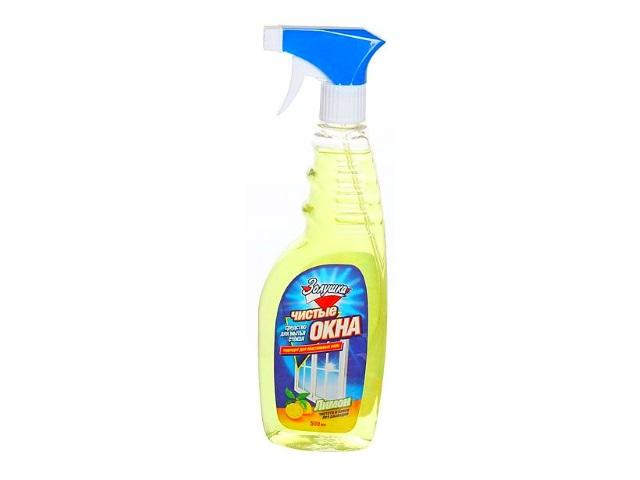 Моющее средство для стекол 500 мл Золушка Чистые окна Лимон