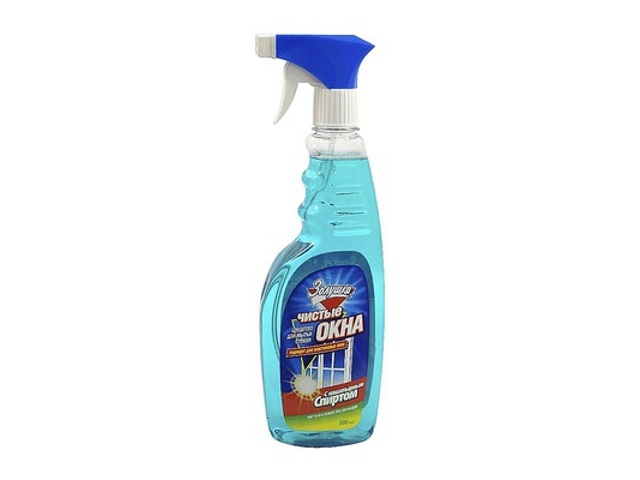 Моющее средство для стекол 500 мл Чистые окна Нашатырный спирт Золушка