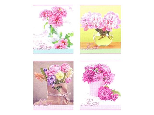Тетрадь 48л линия Цветы-2 Legend 48-3845