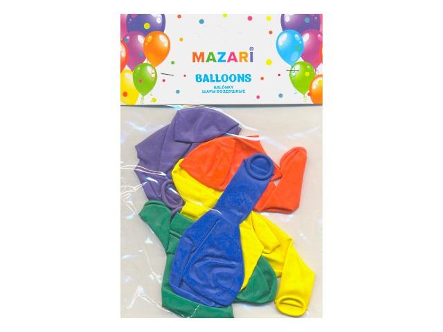 """Шары 12""""  10 шт. Фиеста цветные Mazari М-8883"""