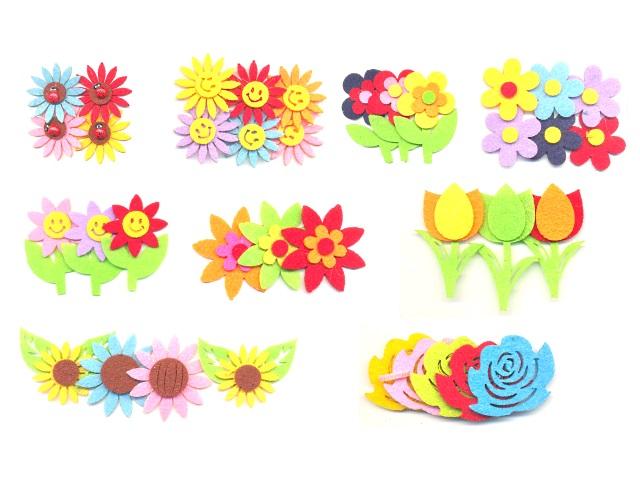 Декоративные элементы из фетра Цветы ассорти М-8852