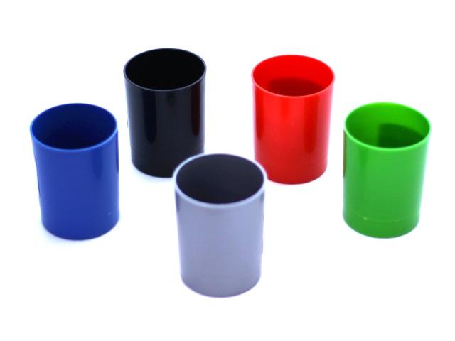 Стакан для ручек пластик цветной круглый Mazari М-2008 2009