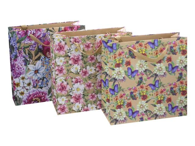 Пакет подарочный бумажный 30.5*30.5*12.7 см, Вернисаж, Mazari М-8018