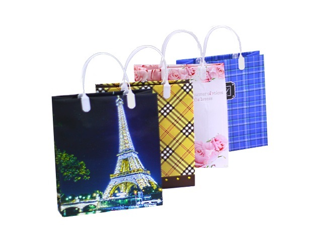 Пакет подарочный пластик 26*23*10см Элегия Mazari М-8046