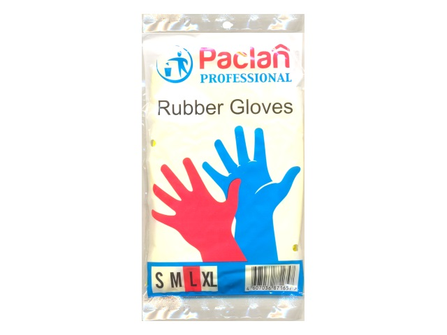 Перчатки резиновые размер L, Paclan 139220